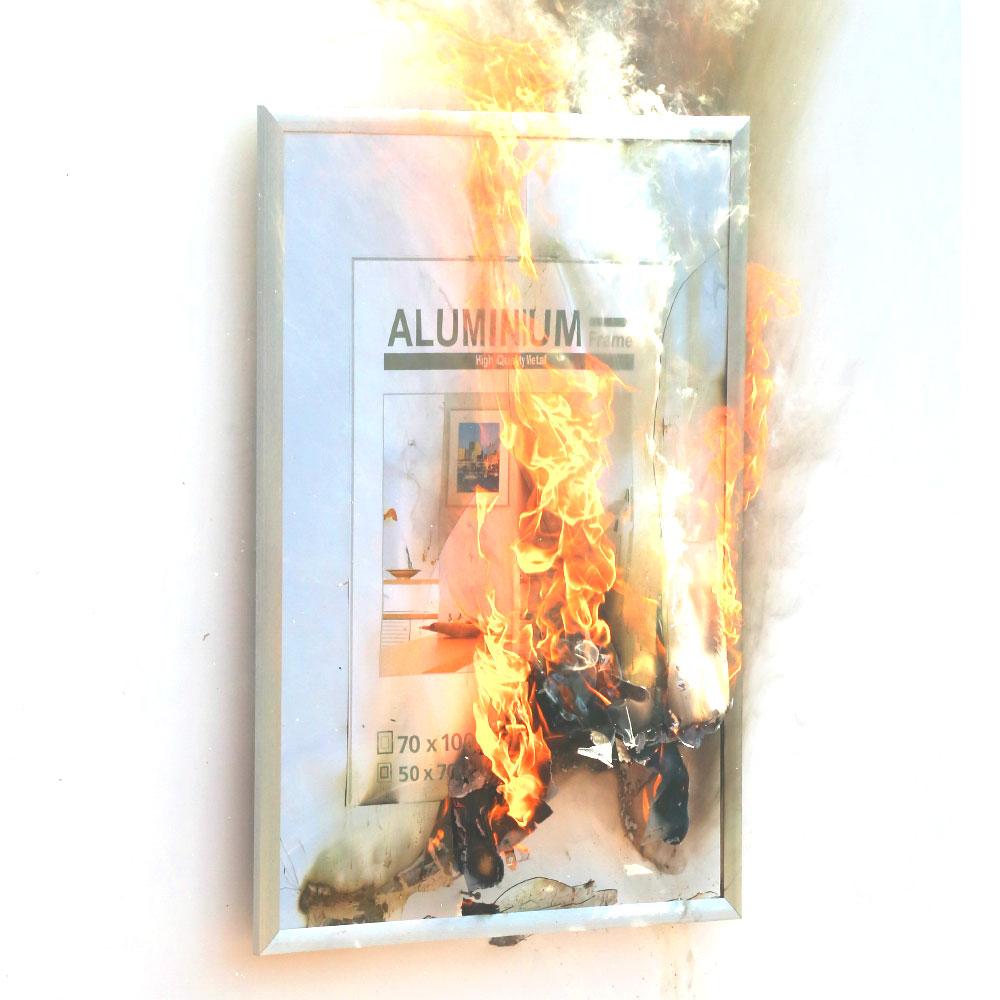 brennender Bilderrahmen